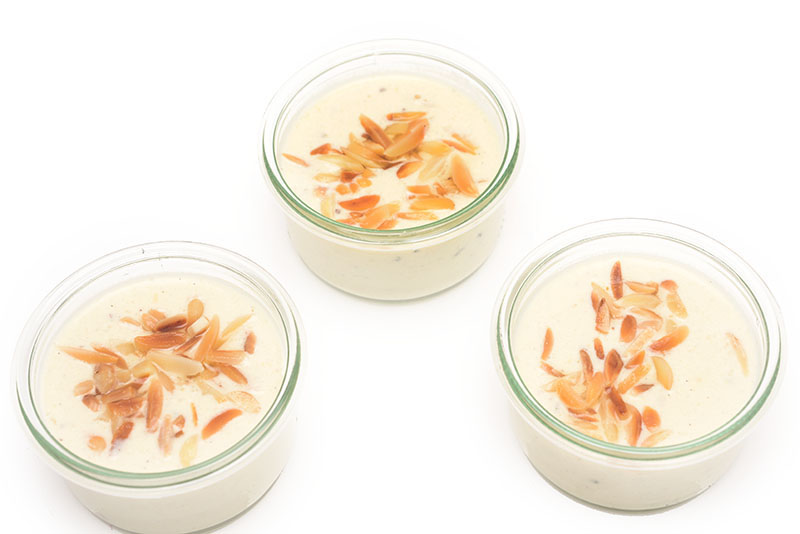 Foto Amaretto Creme als Glasfood